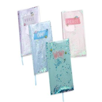 Water Notebook with Glitters - 10 in a box