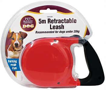 Retractable Dog Leash - 5 metre and 2 x Assorted Colours
