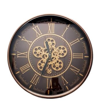 Hermes Round Wall Clock Rose Gold