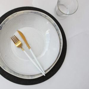 THE JOINERY   Place Mat Set of 4 - Circle - Grey