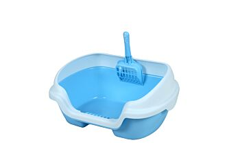 Small Portable Cat Rabbit Toilet Litter Box Tray with Scoop