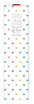 Bookmark With Elastic Band - Hearts Multi
