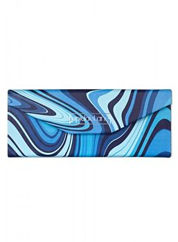 Beautifuly Abstract PU Trifold compact Glasses Case Abstract Blue