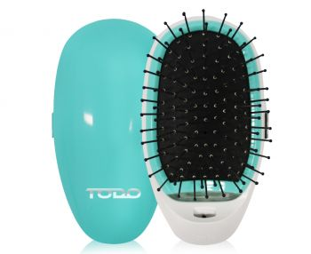 TODO Ionic Anti Frizz Straightening Styling Hair Straight Brush Smooth Silky Hair Comb Blue