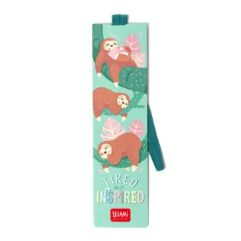 Bookmark With Elastic Band - Tired Sloth
