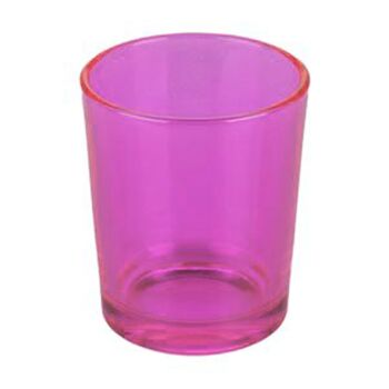 24 Pack - Pink Glass Table Tea Light Candle Holder Girls Hens Night Event Party Room Decoration - 6.5cm High
