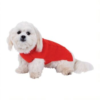 Dog Sweater Cable Girl - 50cm, 3 x Assorted Colours