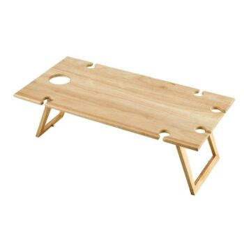 STANLEY ROGERS Timber Folding Picnic Table Rectangle 75x38x25cm Travel Wine