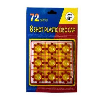 8 Shot Ring Caps - 72 Shots ( ONLY SOLD in Carton of 24 )