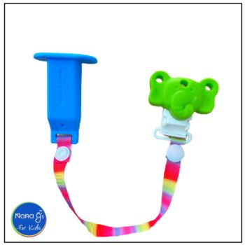 Nana gs Rusk and Fruit Stick Holders - Blue with Green Clip