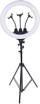 """22"""" Large LED Ring Light with Tripod + Remote   with Carry Bag"""