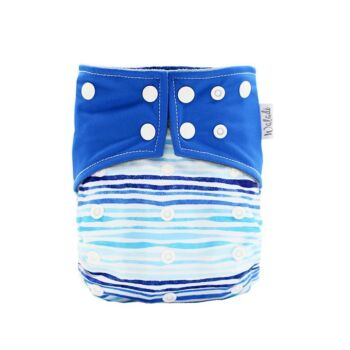 Blue Design Bamboo Charcoal Cloth Nappy