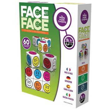 The Happy Puzzle Company Face To Face Dice Set and Game