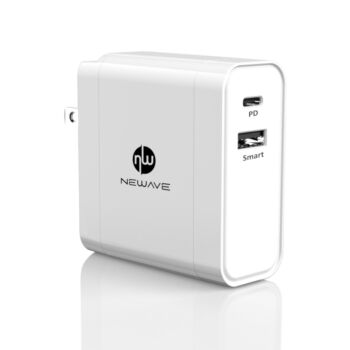 NEWAVE 2 Port Dual USB 60W PD Wall Charger Adapter