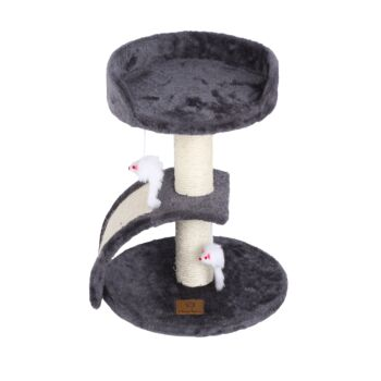 Charlie's Pet Cat Tree with Scratching Slope - Charcoal - 35x35x45cm