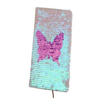 Sequin Notebook - 2 Designs (Butterfly & Multicolour) - 10 in a box