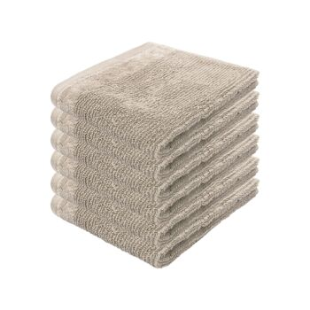 Costa 6pack Face Washer 33x33cm Stone