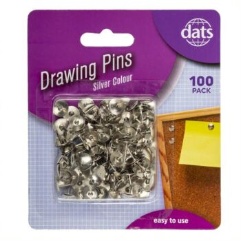 Pin Drawing Silver 100 Pack