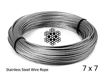 2.0mm 7x7 G316 Stainless Steel Wire Rope