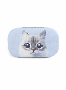 Quality PU Covered & Lined Trinket Case Cat Lilac