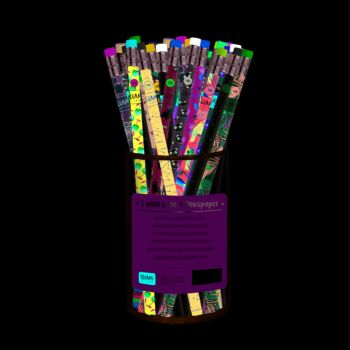 I Used to be A Newspaper - Recycled Paper Pencil - 12 Designs - Display Pack of 48 Pieces