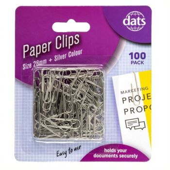 Paperclips Silver 28mm 100 Pack