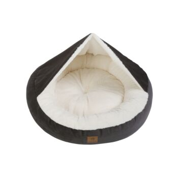 Charlie's Pet Hooded Corduroy Snookie Pet Nest - Charcoal