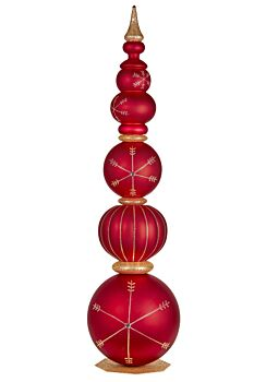 152cmH Red Christmas Finial Tower