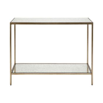 Cocktail Mirrored Console Table