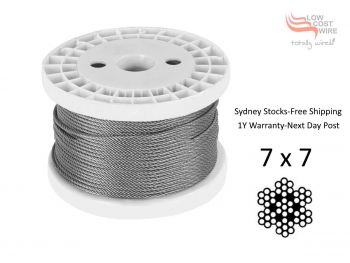 0.8mm 7x7 G316 Stainless Steel Wire Rope