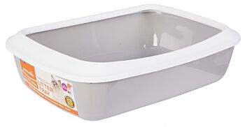 SMALL CAT LITTER TRAY WITH RIM, 42X31X12CM
