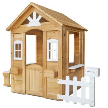 Lifespan Kids Teddy V2 Cubby House Natural with Timber Floor