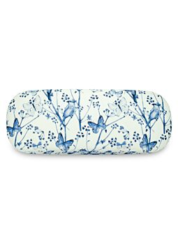 Beautiful Cloth Covered & Lined Glasses Case Blue Dusk