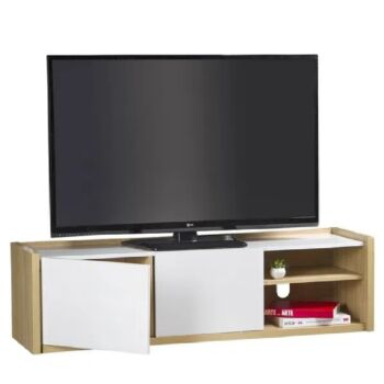 Cosmoliving TV Stands & Entertainment Units 146cm 2 Doors TV Cabinets W/Cable Management /Adjustable Shelves