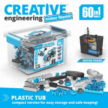 Creative Engineering 60 In 1 Motorized: Maker Master | By  Engino