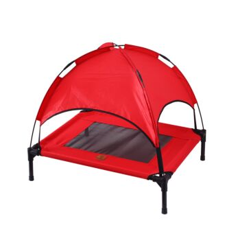 Charlie's Pet Elevated Bed with Tent - Red