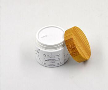 Magnesium Lotion Lavender with Arnica and Willowbark Extract - 50ml Biodigradable Jar!