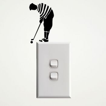 Golfer Wall Sticker for Light Switches
