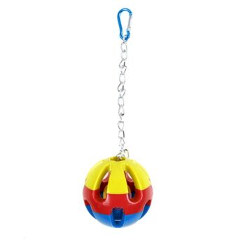 6 x Large Hanging Swing Bird Parrot Parakeet Canary Budgie Ball Toy