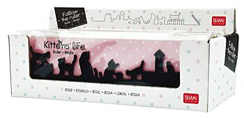 Follow The Ruler - Kittens Ruler - Display Pack of 12 Pieces