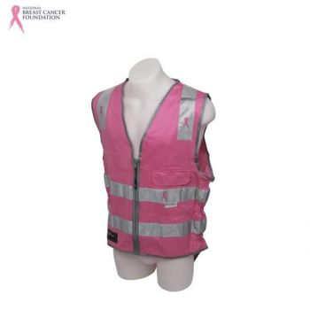 NBCF Zero D/N Safety Vest 3M Perforated Reflective Tape Pink Size 4XL
