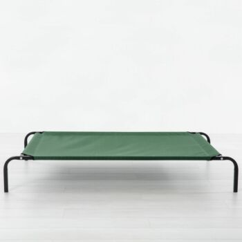 Charlie's Pet Elevated Trampoline Pet Bed - Green - Large 114x76x20c