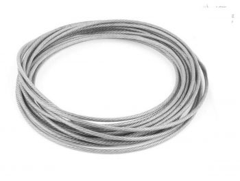 0.6mm Clear Coated 1x7 G316 Stainless Steel Wire Rope