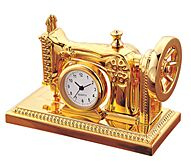 5 Pack of Gold Sewing Machine Clock - desk side board homeware ornamental mother day birthday xmas love you mum thank you gift