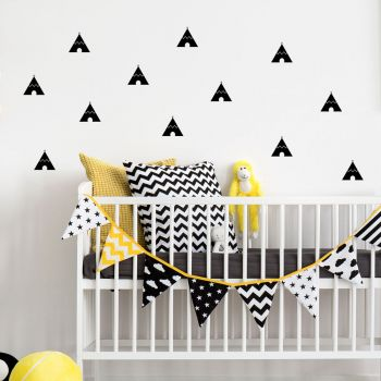 Teepees Pattern Wall Decal