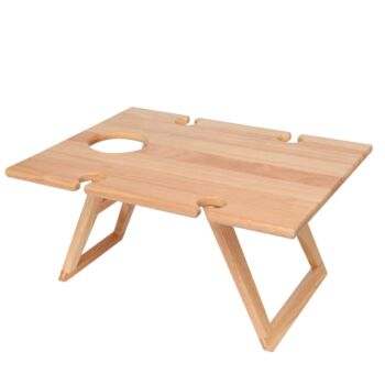 STANLEY ROGERS Timber Folding Picnic Table Rectangle 48 x 38cm
