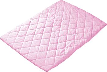 Quilted Travel Cot Fitted Padded Sheet Pink