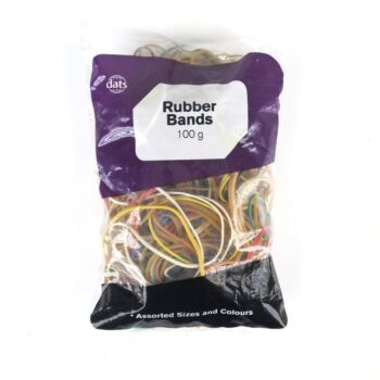 Rubber Bands Assorted Coloursours 100g