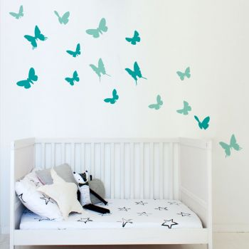 Butterflies Wall Decal PINK AND MAGENTA