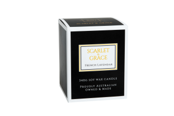Scarlet & Grace 340G Soy Wax Candle - French Lavender Fragrance
